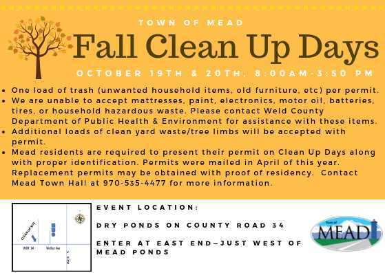 Mead FALL Clean Up Days!